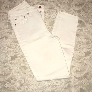 THE CASTINGS white high waisted skinny jeans